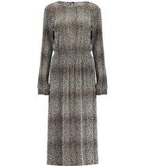 geisha 07916-20 720 dress plisse leopard sand combi