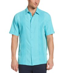 cubavera men's tonal geo-embroidered panel shirt