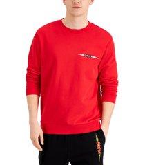 hugo hugo boss men's dungus flaming logo-print sweatshirt, created for macy's