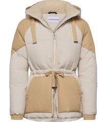 ck eco blocking puffer jacket fodrad jacka creme calvin klein jeans