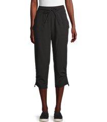 marc new york performance women's capri pants - black - size m