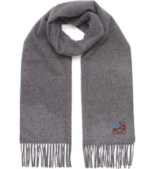 anagram embroidered cashmere scarf