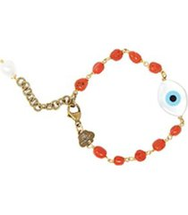 red eye pearl bracelet