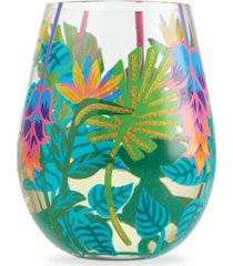 enesco lolita tropical vibes stemless wine glass