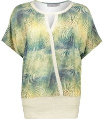 geisha 03055-60 top lurex rib jersey s/s groen