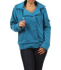 women basic coat hoodie button plus size 1x 2x 3x ambiance blue burgundy winter