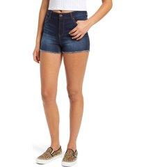1822 denim re: denim high waist fray hem shorts, size 29 in raquel at nordstrom