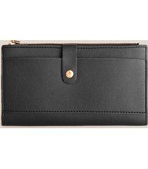 billetera femenina alargada. negro uni