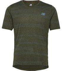 q speed fuel jacquard ss t-shirts short-sleeved grön new balance