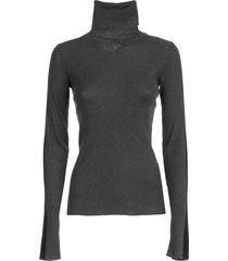 ssheena sweater turtle neck lurex w/side bands