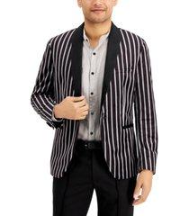 inc men's slim-fit striped velvet blazer, created for macy's