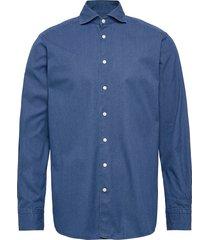 dressy denim shirt - contemporary fit skjorta casual blå eton