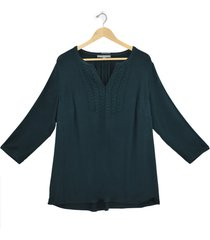 plus size women's daniel rainn lace bib knit top, size 1x - green