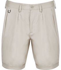 neil barrett cotton twill shorts
