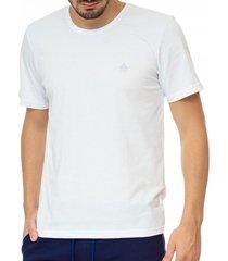 camiseta masculina bã¡sica branca com bordado area verde - 100% algodã£o - multicolorido - masculino - dafiti