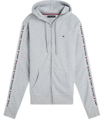 tommy hilfiger hoodie met ritssluiting - lichtgrijs