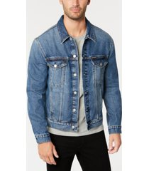 calvin klein jeans men's classic denim trucker jacket