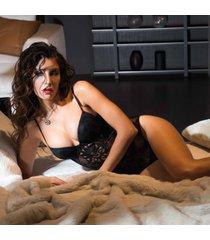 ambra lingerie bh's black velvet body bh zwart 2108