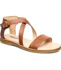 5442 shoes summer shoes flat sandals brun angulus