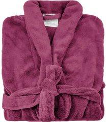 roupão de banho microfibra soft feminino camesa tam. p vermelho