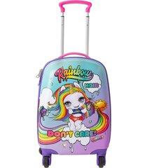 maleta 4 ruedas multicolor poopsie
