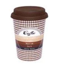 conjunto de 6 copos trip 300ml c/ tampa bebidas quentes cafe