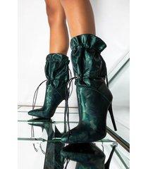 akira azalea wang green beast stiletto heel bootie