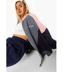 colour block sweater met rits, navy