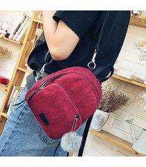 mochila tipo casual,mochilas/bolsas escolares/mujeres-rojo