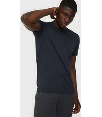 selected homme slhtheperfect ss o-neck tee b noos t-shirts & linnen mörk blå