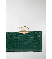 alexander mcqueen embossed knuckleduster clutch bag