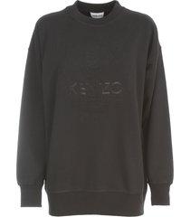 kenzo loose sweatshirt embossed