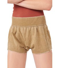 women's free people cozy girl lounge shorts, size x-large - green