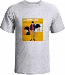 camiseta prorider zeno on cinza claro com estampa quadrada   zocam09 - kanui
