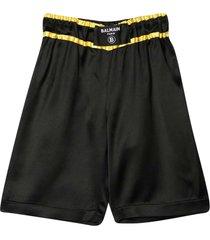 balmain black bermuda shorts