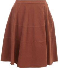 aspesi gabardine circle skirt w/horizontal slits