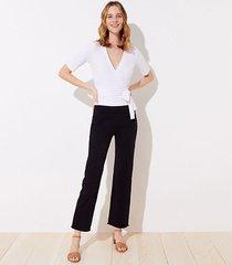 loft tall frayed high waist flare crop pants