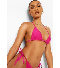essentials driehoekige bikini top, bright pink