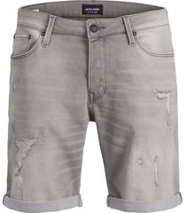jack & jones jeans short 12147067 rick 852 grey denim - grijs