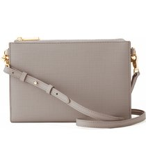 dagne dover essentials coated canvas clutch/wallet - grey