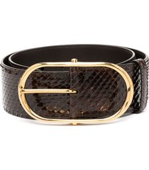 dolce & gabbana oval-buckle belt - brown