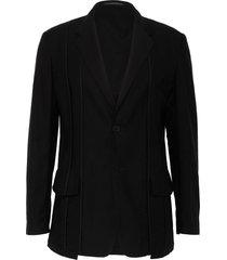tonal seam single breast blazer