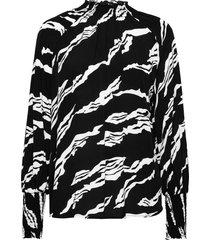 zohagz blouse ms21 blouse lange mouwen zwart gestuz