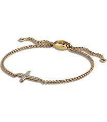 david yurman petite pave cross bracelet with diamonds in 18k gold at nordstrom