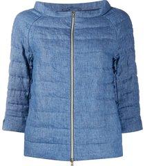 herno 3/4 sleeves padded jacket - blue