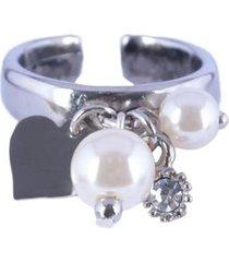 anel armazem rr bijoux pingentes pérola - feminino