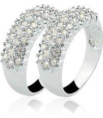 anel aparador de prata 925 com 56 pedras de zircônia natália joias blessed