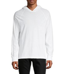 james perse men's cotton & linen-blend hooded top - white - size 0 (xs)