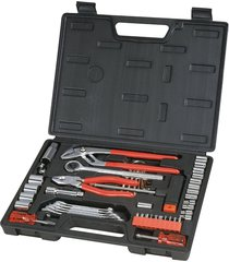 great neck 51 piece hardware machinery tool set w/carry case