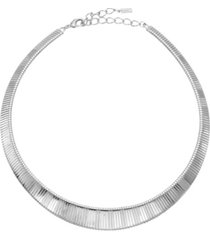 2028 women's silver tone collar necklace
